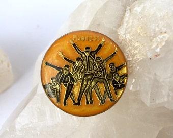 Vintage MADNESS 80s Enamel Pin