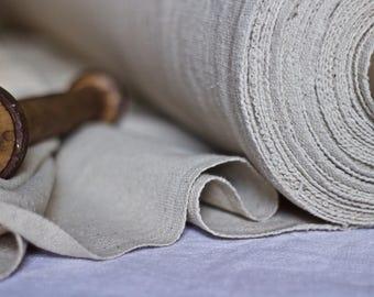 Linen Hemp Grainsack Ecru Fabric