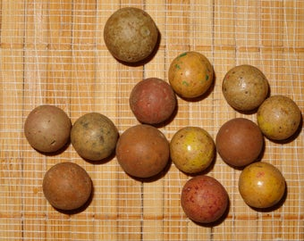 Lot of 13 Antique/Vintage Clay Marbles / Collectible Marbles / Clay Marbles / Game Marbles / Toy Marbles