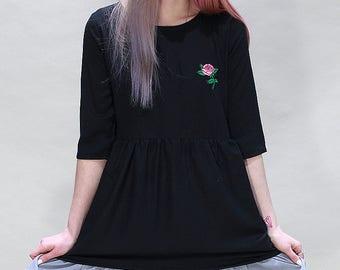 Pink Rose Layered Dress