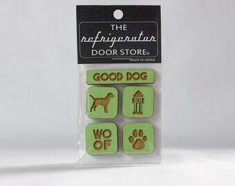 Refrigerator Magnet. Fridge Magnets. Kitchen Magnets. Kitchen Decor. Good Dog.