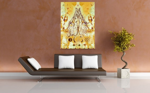 Anjali - Luna Soul - Artprint on Canvas, LinePoster or Banner in various Size and Custom painted