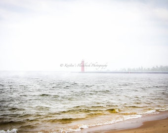 Grand Haven Foggy Pier Lake Michigan