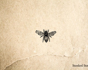 Honey Bee Rubber Stamp - .25 inches