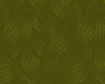 Dark olive? moss green tonal blender fabric.