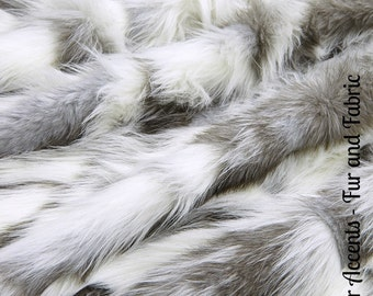 Faux Fur Gray Nordic Fox - Fabric - Shag, Crafts, Sewing, Baby & Pet  Photo Props
