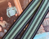 One of a Kind Handmade Guitar Strap,  Instrument Strap, Bass Strap, Acoustic or Electric Guitar Strap
