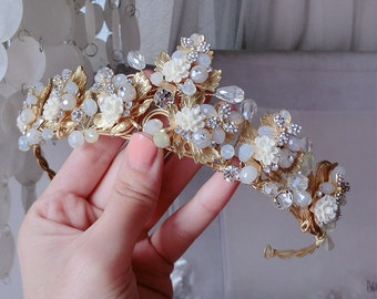 Blossom Tiara Wedding Crown Hair Accessory