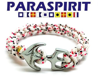 "Paraspirit ""SKIPPER"" Nautical Rope Bracelet with Stainless Steel Anchor"