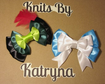 Neverland Combo Pack - Peter Pan and Wendy Darling Inspired Disney Hair Bows