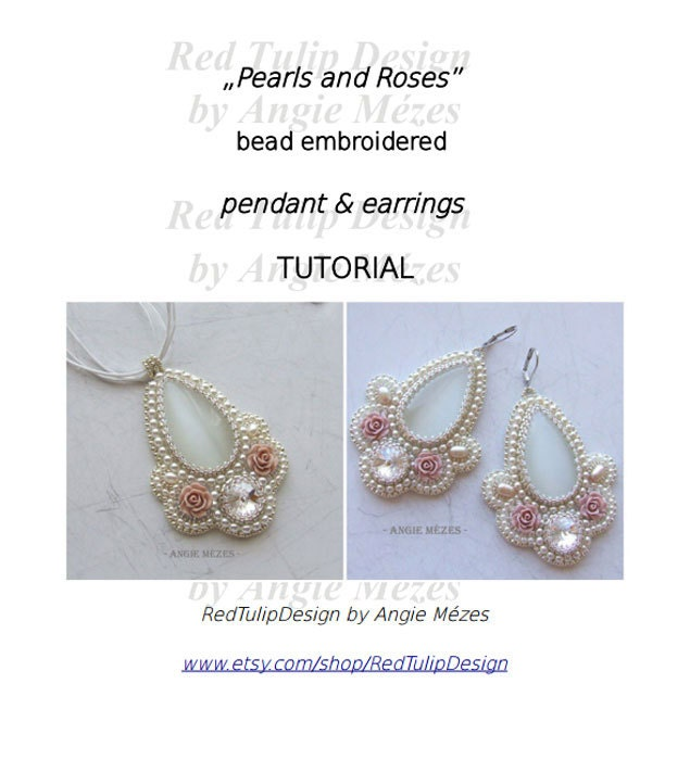 Tutorial bead embroidery pendant beading pattern by
