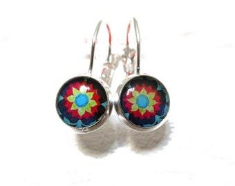 MEXICAN ART Dangle earrings - Mexican Folk Art - Mexican Jewelry - Mexican earrings - Mexican Ornamenta -, little dangle earrings
