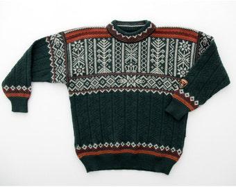 Vintage Dale of Norway Sweater // Ski VM 1997 Trondheim Norwegian Sweater // Oversized Boyfriend Sweater
