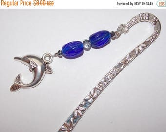 15%OFF Cobalt Blue Silver Dolphin Bookmark