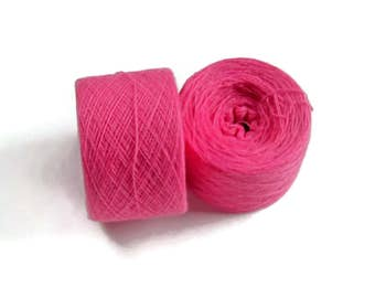 BLOSSOM PINK  100% Cashmere 2692 yards recycled yarn