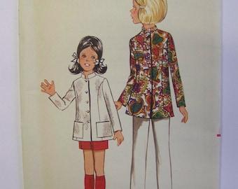 FAB Vintage 1960s Butterick 5082 Girl's NEHRU JACKET pattern size 10 Complete
