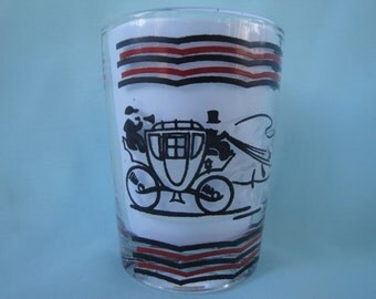3 Gay Fad Anchor Hocking Juice Glasses/Set of 3 Carriage Juice Glasses/Anchor Hocking 4 oz. Cordial Glasses