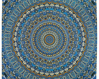 Harmony In Color 3D psychedelic mandala tapestry 60 x 90