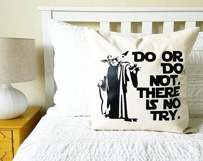 Star Wars Yoda Pillow - Father's Day Gift, Jedi, Pillow Cover, Star Wars New Home, Star Wars Kids Decor, Star Wars Gift