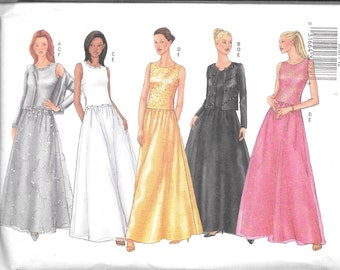 Butterick Classics Pattern 6767 EVENING CARDIGAN TOP & Skirt Misses Sizes 18 20 22