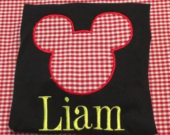 Mouse appliqué shirt