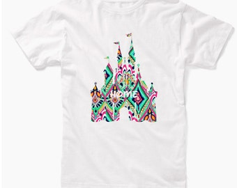 Disney Lilly Pulitzer Inspired Home Castle Shirt, Disney Fan Shirt, Disney World Shirt, Disney Shirt, Lilly Pulitzer Shirt