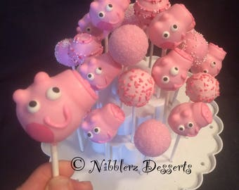 24 PEPPA PIG cake pop Party Assortment, 2 dozen