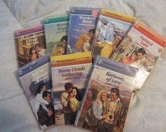 Eight Vintage Canadian Harlequin Romance Books- Great Summer Reading! (Set # 10) - JuneMoon10%Off