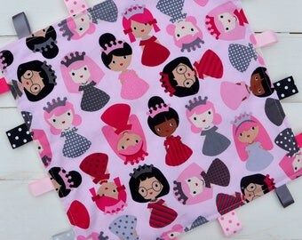 Tag / Lovely Blanket - Ribbon Blanket - Pink Princess with Pink Minky