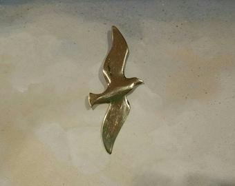 Vintage Danecraft vermeil seagull/albatross pendant
