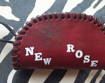 New Rose Real Leather Mini Purse