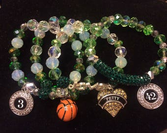 Custom  Sports Mom Stack Bracelets