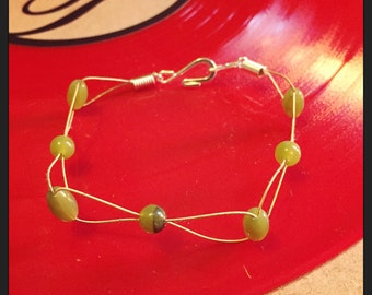 Upcycled Guitar String Bangle