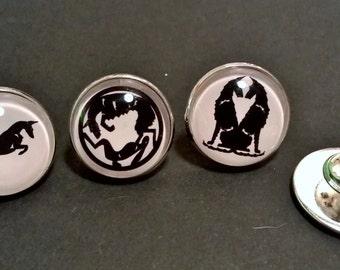 UniQ set van drie wire Podenco Ibicenco broches / pinnen