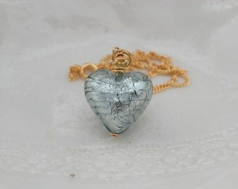 Venetian Murano Glass Heart Necklace
