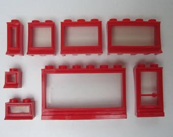 vintage LEGO (R) windows from the 50's - 60's