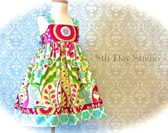 Toddler Dress, 3T Only,  Reverse Knot Dress, Special Occasions, Sunday, Church, Wedding by 8th Day Studio