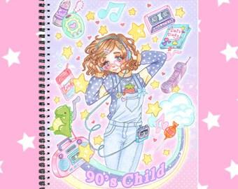 90's fairy kei sketchbook note book