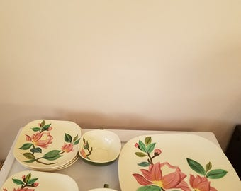 Vintage Red Wing Blossom Dinnerware