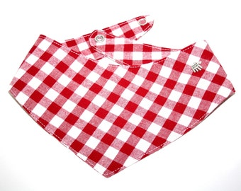 "Dog bandana ""red / white"""