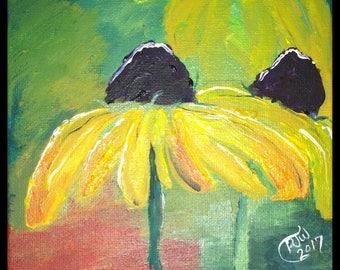 Coneflower Painting Etsy
