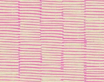 Lines in Pink- Maker Maker by Sarah Golden- Linen Cotton Blend