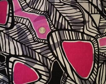 Hot Pink Tribal Print Rayon/Lycra Knit