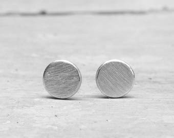 Point Stud Earrings 925 silver round stud earrings, slices, dots, dot stud earrings, earrings round ear Studs geometric Circle