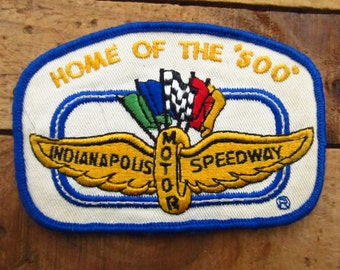 Vintage Indianapolis Motor Speedway Patch - Race Track Patch - Indy 500 Patch