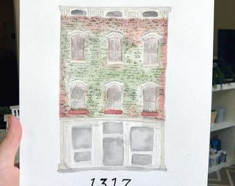 Custom Architecture Watercolor Print