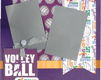 Volleyball Player 2 Page Scrapbooking Layout Kit