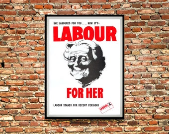 Reprint of a 1945 Labour Party Election Poster