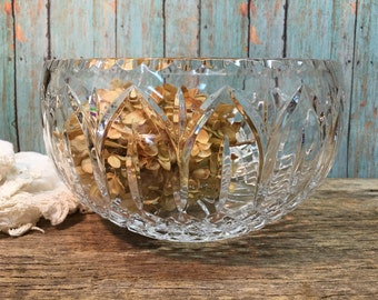 Vintage Crystal Bowl/Punch Bowl/Wedding Bowl
