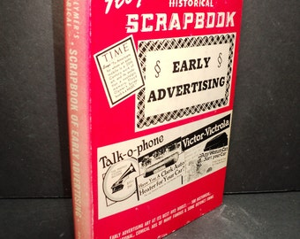 Floyd Clymer's Historical Scrapbook Early Advertising Hardcover Book Dust Jacket, 1955